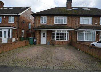 Thumbnail 3 bed semi-detached house to rent in Caractacus Green, Watford, Herts