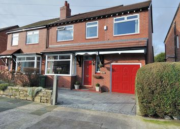 Thumbnail 4 bedroom semi-detached house for sale in Bonis Crescent, Great Moor, Stockport, Cheshire