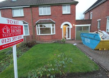 Thumbnail 3 bedroom semi-detached house to rent in Daisybank Crescent, Walsall