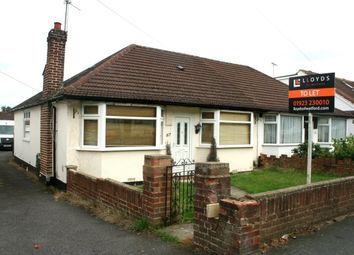 Thumbnail 2 bed bungalow to rent in St. Georges Drive, Watford