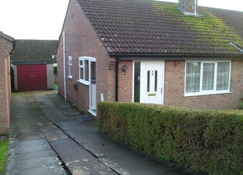 Thumbnail 2 bed semi-detached bungalow to rent in Fairfax Close, Ampleforth, York