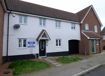 Thumbnail 3 bedroom terraced house to rent in Churchfields Road, Long Stratton, Norwich