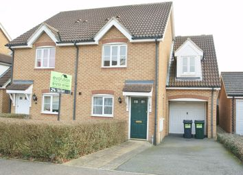 Thumbnail 3 bed semi-detached house to rent in Lodge Wood Drive, Orchard Heights, Ashford