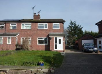 Thumbnail 3 bed semi-detached house to rent in Church View, Audlem, Crewe