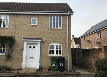 Thumbnail 2 bed semi-detached house for sale in Tudor Rose Way, Harleston