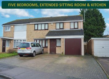 Thumbnail 5 bed semi-detached house for sale in Torrington Close, Wigston, Leicester