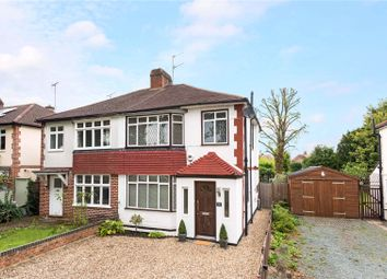 Thumbnail 3 bed semi-detached house for sale in Woodham Lane, New Haw, Addlestone, Surrey