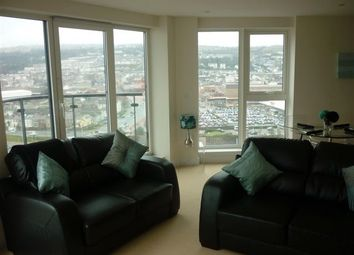 Thumbnail 2 bed flat to rent in Meridian Tower, Swansea