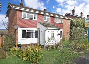 Thumbnail 3 bed semi-detached house for sale in Woodpecker Road, Birds Estate, Larkfield, Kent