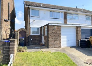 Thumbnail 3 bed semi-detached house for sale in Burrell Avenue, Lancing, West Sussex
