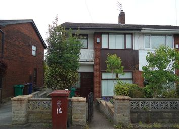 Thumbnail 3 bed semi-detached house to rent in Manswood Drive, Manchester