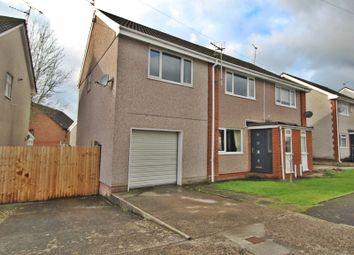 Thumbnail 4 bed semi-detached house for sale in Byron Avenue, Beddau, Pontypridd, Rhondda, Cynon, Taff.