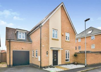 Thumbnail 4 bed detached house for sale in Canal Way, Pineham Lock, Hunsbury Meadows