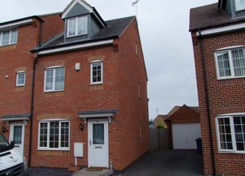 Thumbnail 3 bed town house to rent in Barker Round Way, Burton-On-Trent