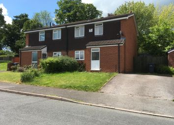 Thumbnail 2 bed semi-detached house to rent in Leighton Road, Uttoxeter