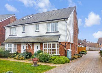 Thumbnail 3 bed semi-detached house for sale in Honeysuckle Drive, Billingshurst, West Sussex