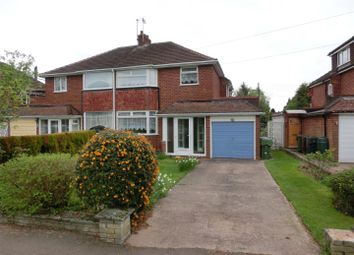 Thumbnail 3 bed semi-detached house for sale in Meadow Road, Wythall, Birmingham