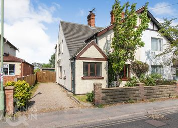Thumbnail 3 bed semi-detached house for sale in London Road, Kessingland, Lowestoft