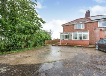Thumbnail 3 bed semi-detached house for sale in Norwich Road, Pulham St. Mary, Diss