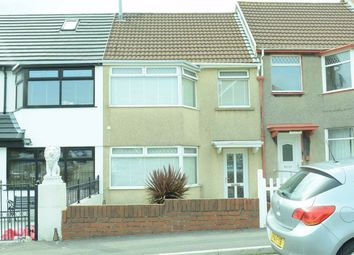 Thumbnail 3 bed terraced house for sale in Brynglas Road, Fforestfach, Swansea