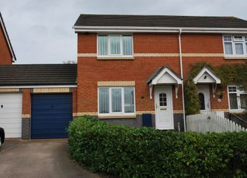 Thumbnail 3 bed semi-detached house to rent in Byron Way, Exmouth