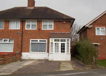 Thumbnail 2 bed semi-detached house for sale in Hedgley Grove, Stechford, Birmingham