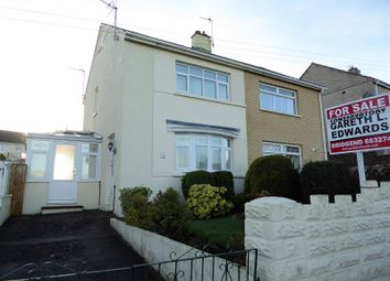 Thumbnail 2 bed semi-detached house for sale in Shakespeare Avenue, Bridgend
