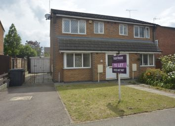 Thumbnail 3 bedroom semi-detached house to rent in Florian Way, Hinckley, Leicestershire