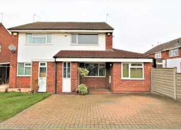 Thumbnail 3 bed semi-detached house for sale in Huggett Close, Leicester