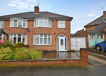 Thumbnail 3 bed semi-detached house for sale in Bakewell Road, Wigston, Leicester