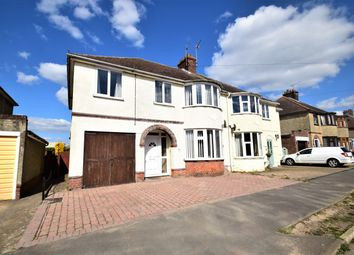 Thumbnail 4 bed semi-detached house for sale in Highfield Road, Stowupland, Stowmarket