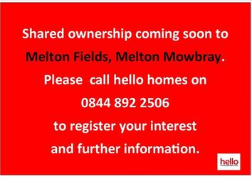 Thumbnail 2 bed semi-detached house for sale in Melton Fields, Badgers Avenue, Melton Mowbray, Leicestershire