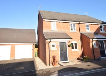 Thumbnail 3 bed semi-detached house for sale in Field View Close, Huncote, Leicester