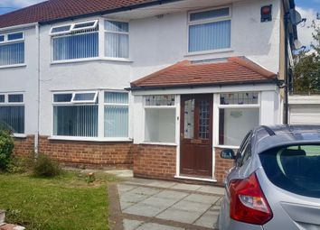 Thumbnail 3 bed semi-detached house for sale in Laburnum Avenue, Huyton, Liverpool