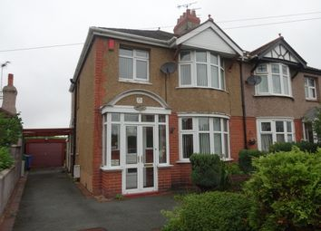 Thumbnail 3 bed semi-detached house to rent in Pendyffryn Road, Rhyl