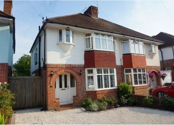 Thumbnail 3 bed semi-detached house for sale in Milbury Crescent, Southampton