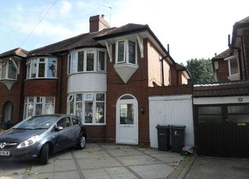 Thumbnail 3 bed semi-detached house to rent in Rymond Road, Hodge Hill, Birmingham
