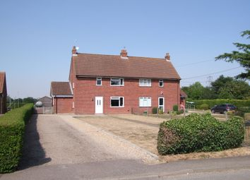 Thumbnail 3 bed semi-detached house for sale in The Street, Cratfield, Halesworth, Suffolk