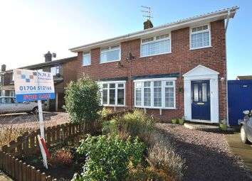 Thumbnail 3 bed semi-detached house for sale in Ganton Close, Southport, Merseyside.