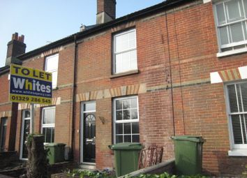 Thumbnail 2 bed terraced house to rent in Wickham Road, Fareham