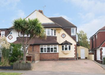 Thumbnail 5 bed semi-detached house for sale in Woodstone Avenue, Stoneleigh, Epsom