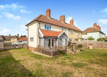 Thumbnail 3 bed semi-detached house for sale in Church Road, Worlingworth, Woodbridge