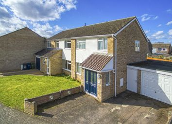Thumbnail 3 bed semi-detached house for sale in Hayling Avenue, Little Paxton, St. Neots