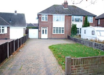 Thumbnail 3 bed semi-detached house for sale in Burton Road, Branston, Burton-On-Trent, Staffordshire