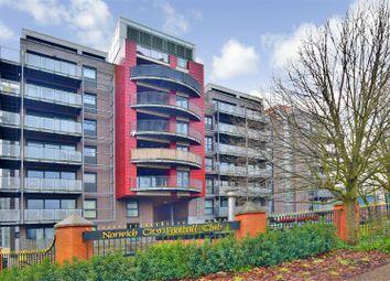 Thumbnail 2 bed flat for sale in Geoffrey Watling Way, Norwich