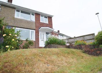Thumbnail 3 bed semi-detached house to rent in Downham Gardens, Tamerton Foliot