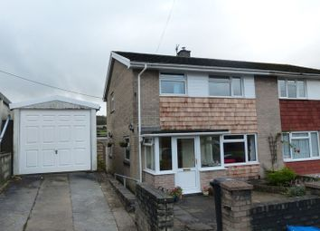 Thumbnail 3 bed semi-detached house to rent in Heol Sant Gattwg, Llanspyddid, Brecon