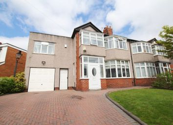 Thumbnail 4 bed semi-detached house for sale in Holmefield Road, Grassendale, Liverpool
