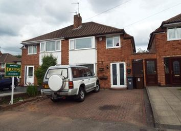 Thumbnail 3 bed semi-detached house for sale in Quinton Close, Solihull, West Midlands