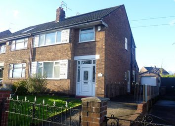 Thumbnail 3 bed semi-detached house to rent in Wellington Road, Eccles, Manchester